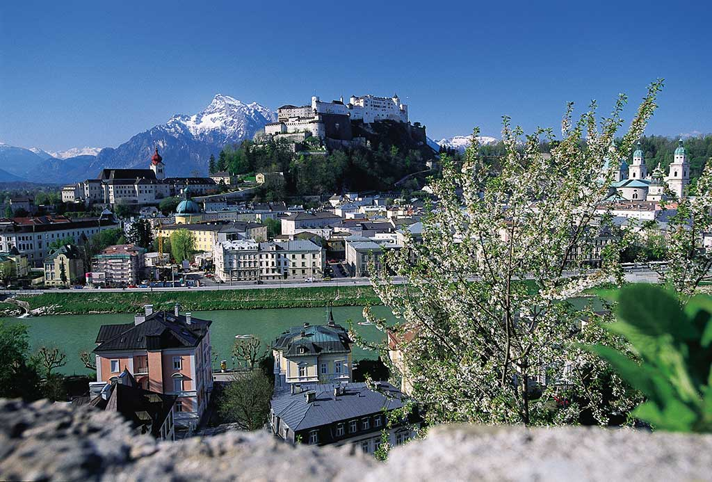 City of Salzburg in spring