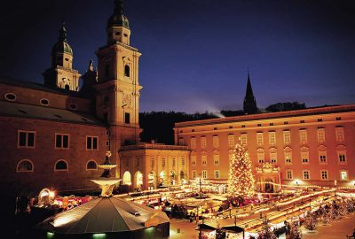 Christmas market at the historical old town of Salzburg
